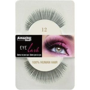 Amazing Shine Human Hair Eyelashes (12) BLACK - Shopdance.co.uk