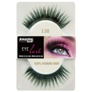 Amazing Shine Human Hair Eyelashes (138) BLACK - Shopdance.co.uk