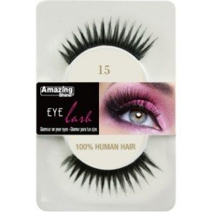 Amazing Shine Human Hair Eyelashes (15) BLACK - Shopdance.co.uk