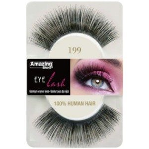 Amazing Shine Human Hair Eyelashes (199) BLACK - Shopdance.co.uk