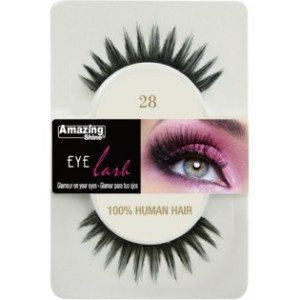 Amazing Shine Human Hair Eyelashes (28) BLACK - Shopdance.co.uk