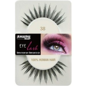 Amazing Shine Human Hair Eyelashes (38) BLACK - Shopdance.co.uk