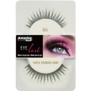 Amazing Shine Human Hair Eyelashes (46) BLACK - Shopdance.co.uk