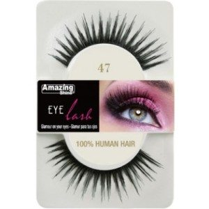 Amazing Shine Human Hair Eyelashes (47) BLACK - Shopdance.co.uk