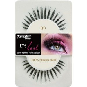 Amazing Shine Human Hair Eyelashes (99) BLACK - Shopdance.co.uk