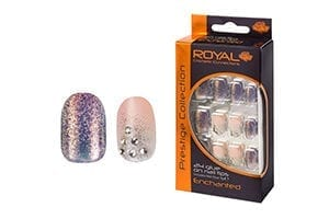 Nail Tips - Enchanted - with 3g Glue By Royal Cosmetics - Shopdance.co.uk
