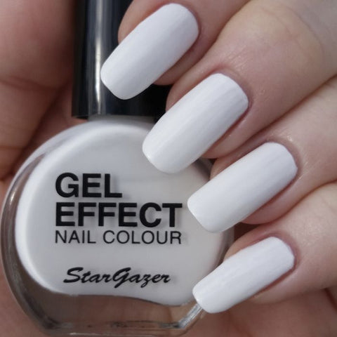 Stargazer Gel Effect Nail Polish White - Shopdance.co.uk