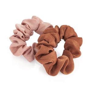 Two piece dusty pink and brown elasticated scrunchie set. - Shopdance.co.uk
