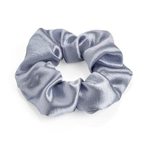 Metallic blue colour elasticated hair scrunchie.  HA33158 - Shopdance.co.uk