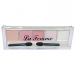 Eyeshadow Pink-White Shimmer 5 Colour - by La Femme - Shopdance.co.uk