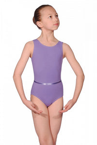CLEARANCE Sleeveless Cotton Lycra Leotard Lavender by Roch Valley Code CJUNE - Shopdance.co.uk