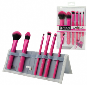 Cosmetic Brushes 7pc Pink Professional Makeup Brushes by Moda