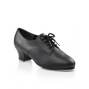 West End 2 TAP Shoe Cuban Heel BLACK LEATHER Code: CG54 by Capezio - Shopdance.co.uk