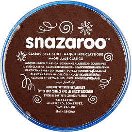 Snazaroo Dark Brown Face Paint - Shopdance.co.uk