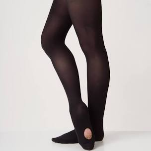 Convertible Black Ballet Tights - Childrens - Adults - Silky Dance - Shopdance.co.uk