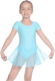 Short Sleeve Skirted LEOTARD AQUA by Roch Valley Code RV2383 - Shopdance.co.uk