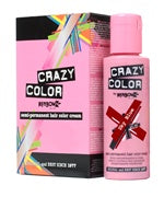 Crazy Colour Semi Permanent Hair Dye 100ml VERMILLION RED - Shopdance.co.uk