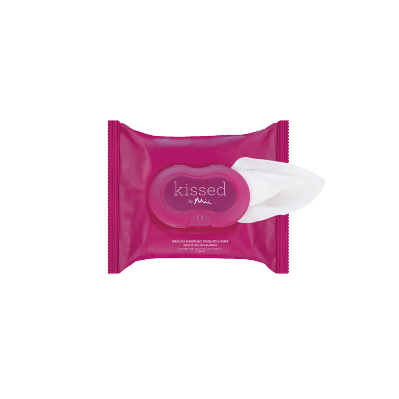 Kissed by Mii Seriously Smoothing Exfoliating Wipes