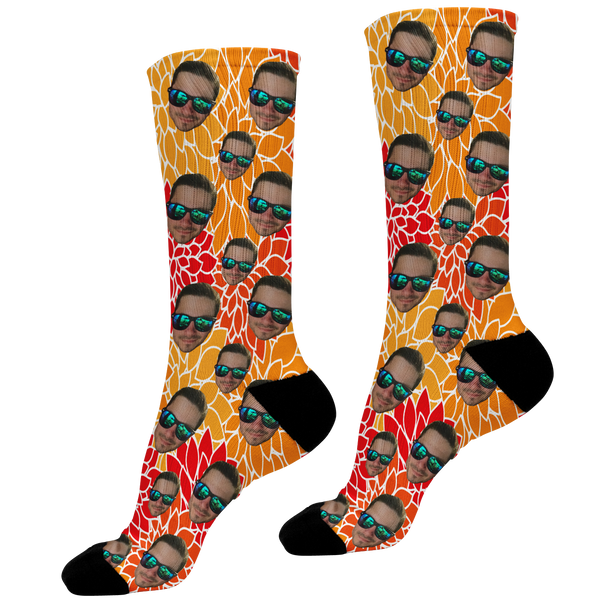 Abstract Design Photo Face Socks
