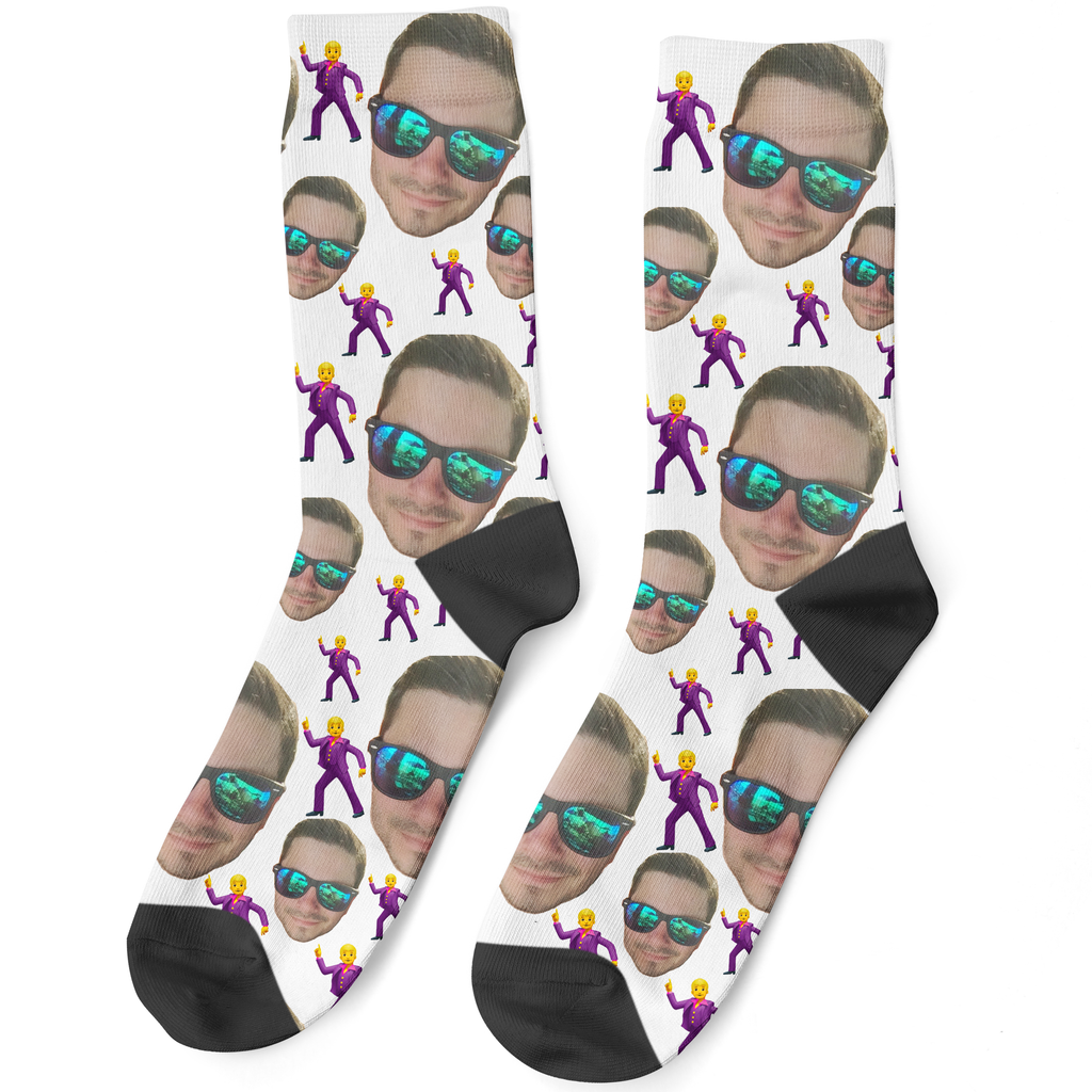 Disco Emoji Face Socks