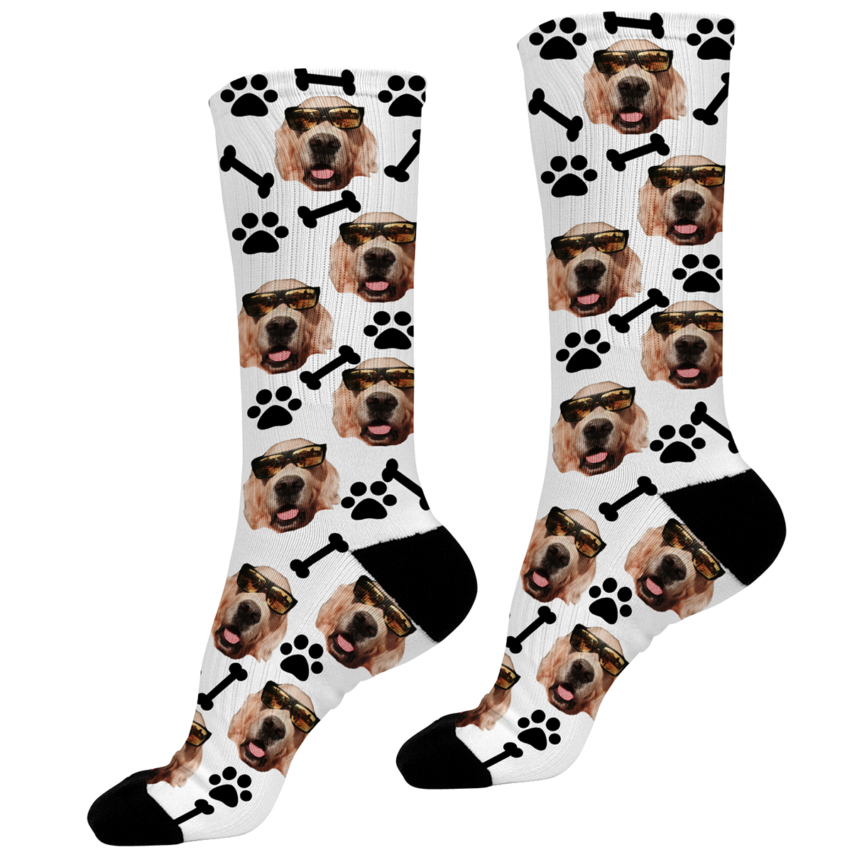 Add A Dogs Face To Socks
