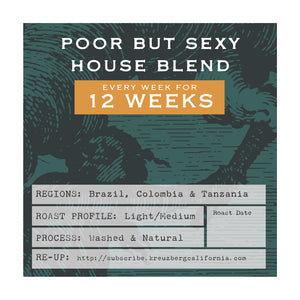 Poor But Sexy House Blend Gift Subscription - 3 Months