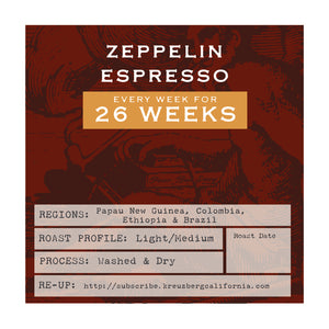 Zeppellin Espresso Gift Subscription - 6 Months