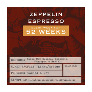 Zeppellin Espresso Gift Subscription - 12 Months
