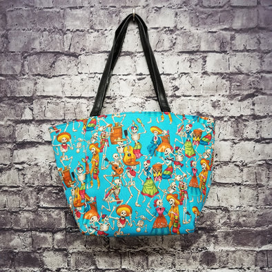 Top Notch Tote -  Fiesta Skeletons