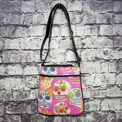 Crossbody - Pink Sugar Skulls