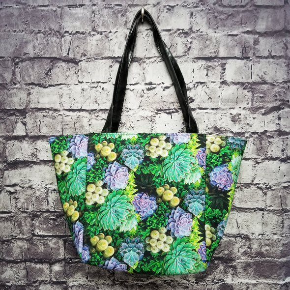 Top Notch Tote - Colorful Succulents
