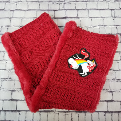 Scarf- Red Unicorn