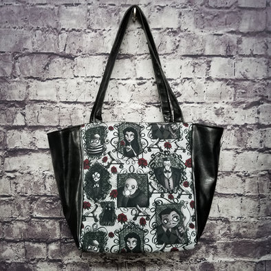 Top Notch Tote - Vinyl Addams Family