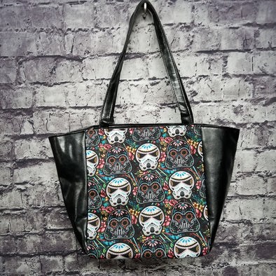 Top Notch Tote - Vinyl Sugar Skull Darth & Trooper