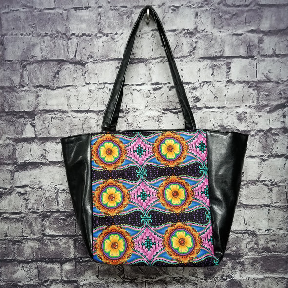 Top Notch Tote - Vinyl Orange & Pink Floral