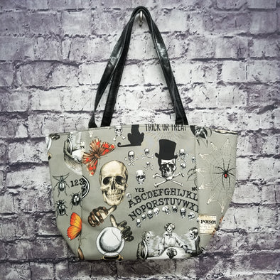Top Notch Tote- Grey Ouija