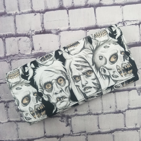 Wallet -Black & White Zombie