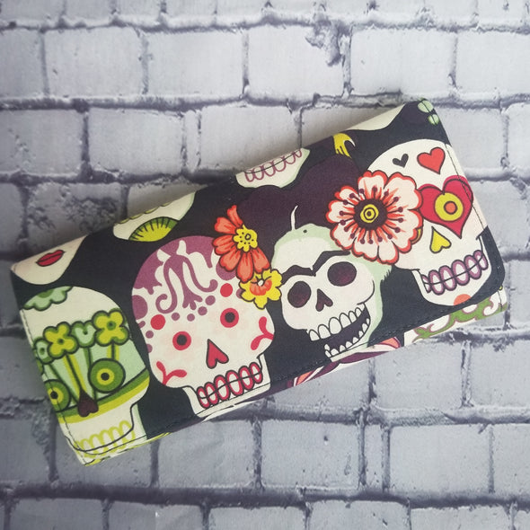 Wallet - Frida Kahlo & (flower) Skulls