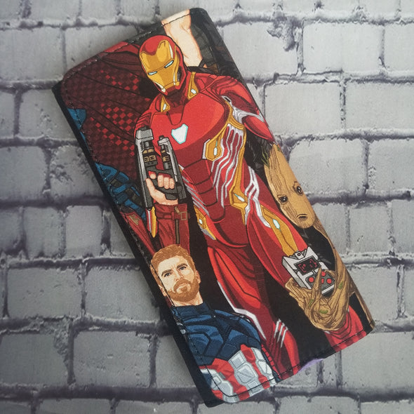 Wallet - Infinity War (Iron man & Cap & Groot)