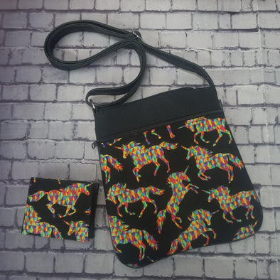 Crossbody & NJFM- Geometric Unicorn