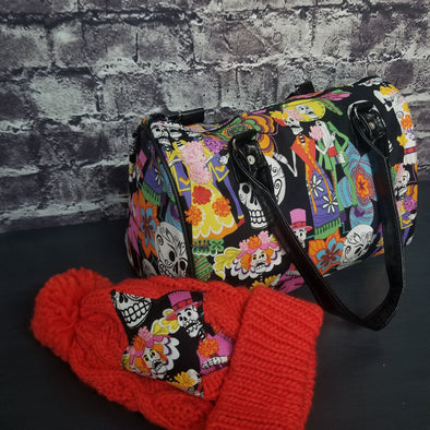 Dipity Bag & Beanie- Tropical Sugar Skulls