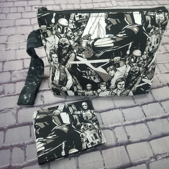Large Wristlet & NJFM- Black & White Starwars