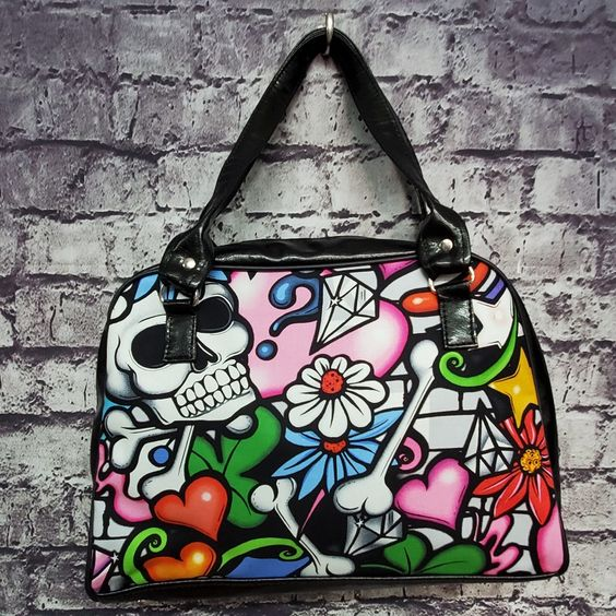 Minerva Bag- Graffiti Skull