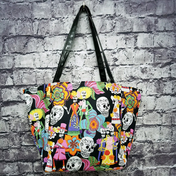 Top Notch Tote- Vibrant Cinco de Mayo Skeletons