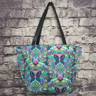 Top Notch Tote - Purple Paisley Owl
