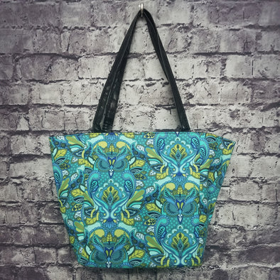 Top Notch Tote - Blue Paisley Owl