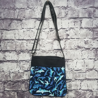 Crossbody - Geometric Sharks