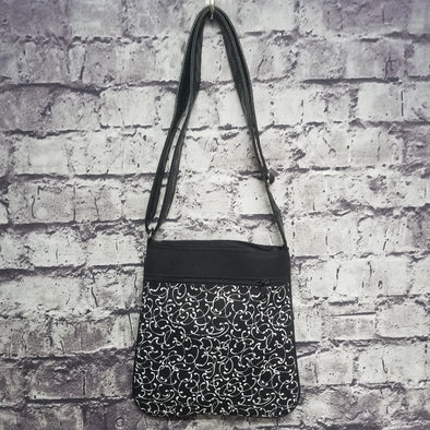 Crossbody - Black & White Swirl