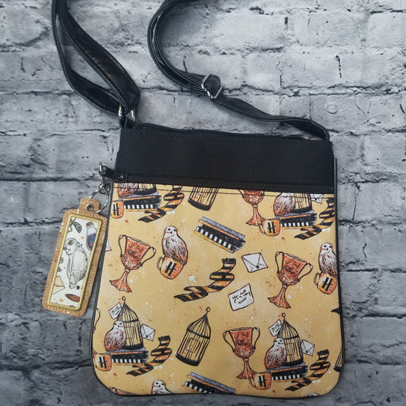 Crossbody & LipBalm Holder- Hufflepuff Trinkets