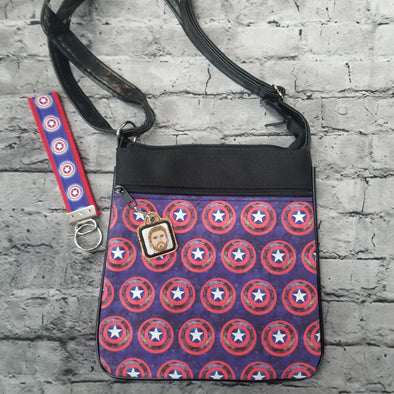 Crossbody & Zipper Pull & Key Fob- Captian Shields